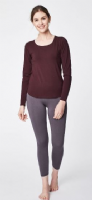 Bamboo Base Layer Top by Thought - Aubergine - WWT3190P